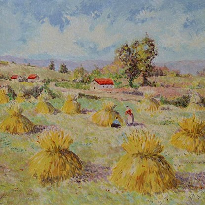 The Four Seasons - Summer<br /> - Lélia Pissarro, Early Figurative (b. 1963)