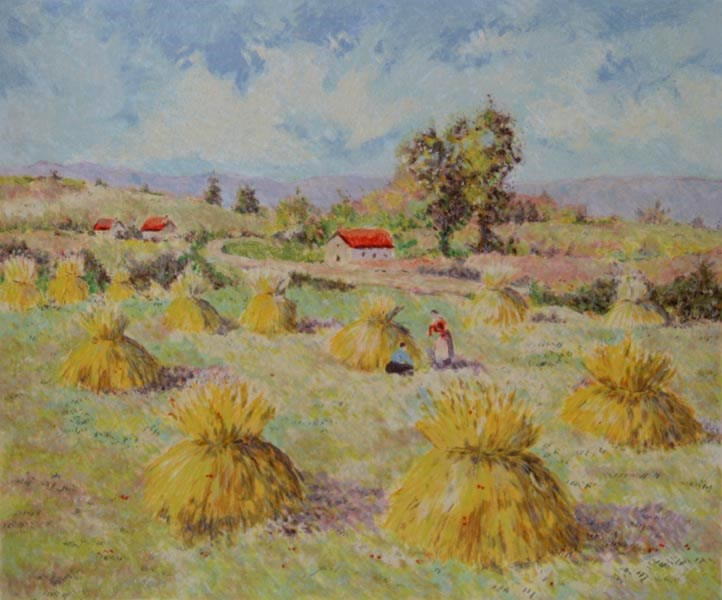 The Four Seasons - Summer - Lélia Pissarro, Early Figurative (b. 1963)
