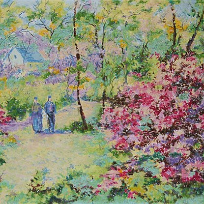 The Four Seasons - Spring<br /> - Lélia Pissarro, Early Figurative (b. 1963)