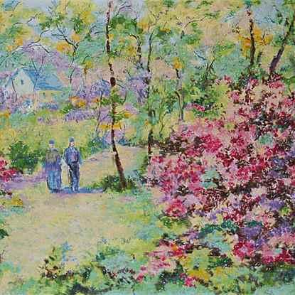 The Four Seasons - Spring<br /> - Lélia Pissarro, Early Figurative (b. 1963)