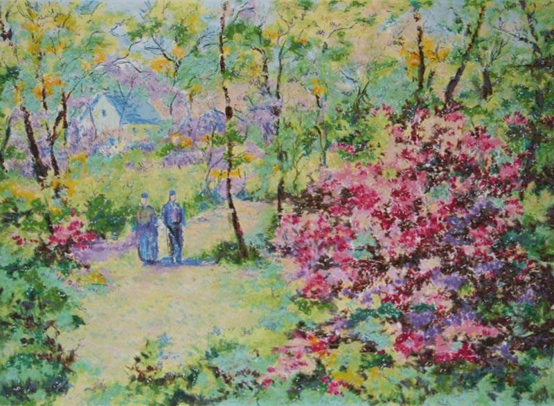 The Four Seasons - Spring - Lélia Pissarro, Early Figurative (b. 1963)