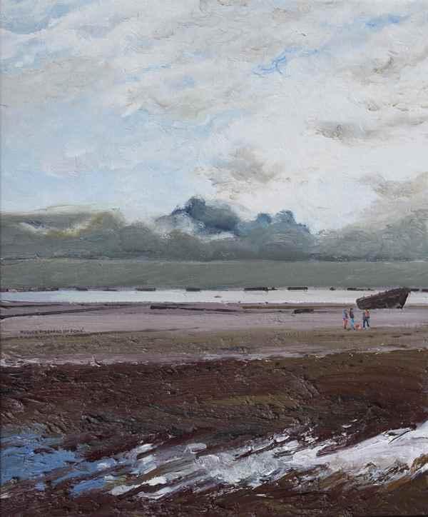 Marée Basse - Arromanches - Hugues dit Pomié Pissarro (b. 1935 - )