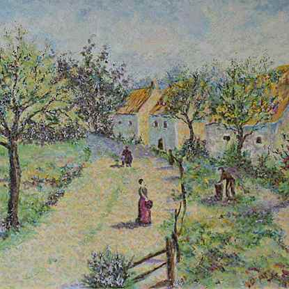 The Four Seasons - Autumn<br /> - Lélia Pissarro, Early Figurative (b. 1963)
