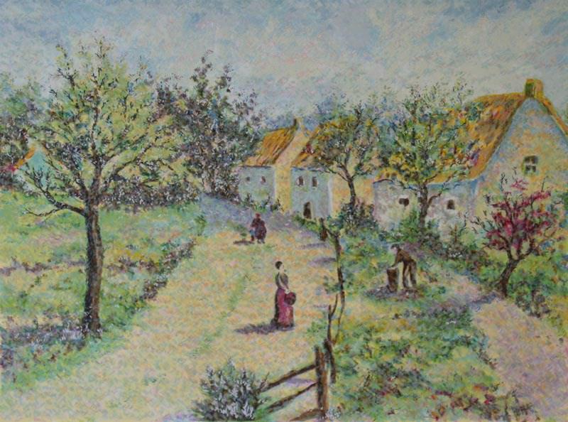 The Four Seasons - Autumn - Lélia Pissarro, Early Figurative (b. 1963)