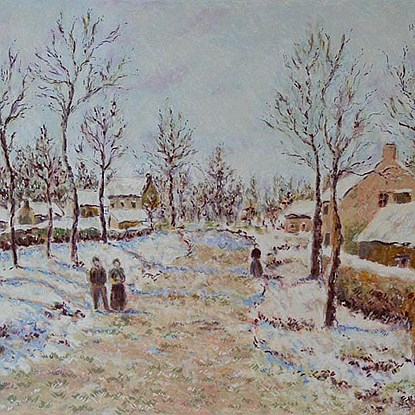 The Four Seasons - Winter<br /> - Lélia Pissarro, Early Figurative (b. 1963)