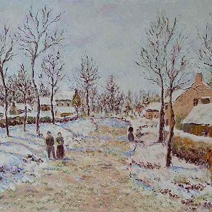 The Four Seasons - Winter<br /> - Lélia Pissarro, Early Figurative (b. 1963)