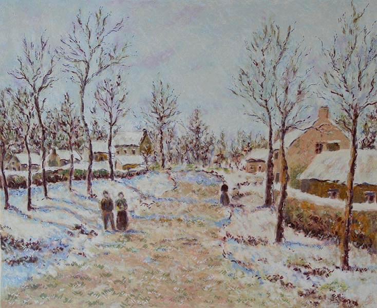 The Four Seasons - Winter - Lélia Pissarro, Early Figurative (b. 1963)