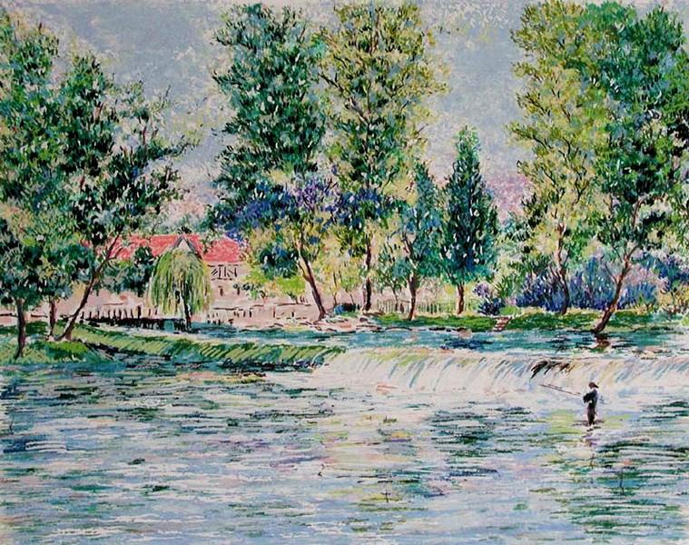 Series - Moulin du Vey - Lélia Pissarro, Early Figurative (b. 1963)