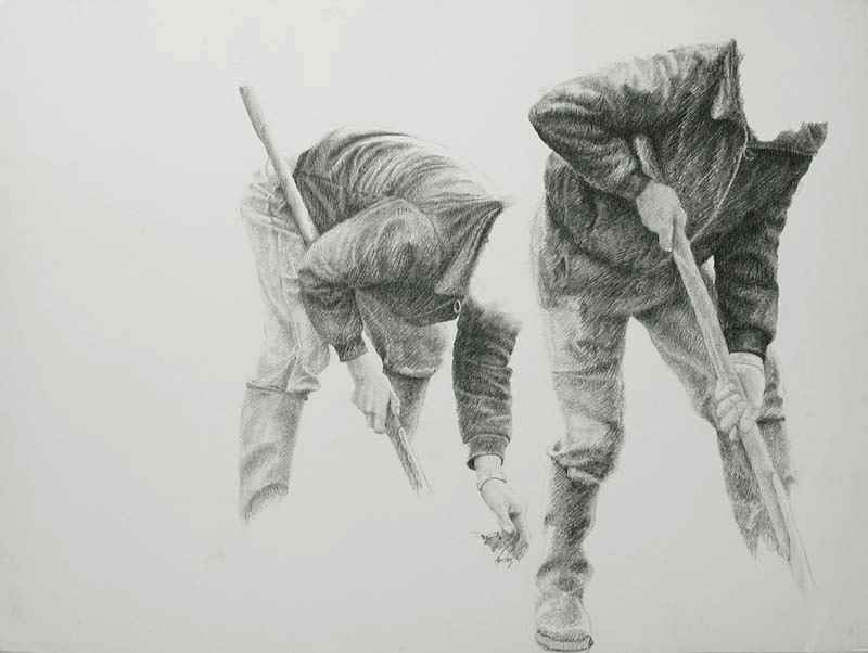 Farmhands - Yvon Pissarro (b. 1937 - )