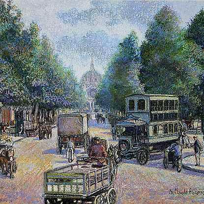 L'Autobus à Imperial du Boulevard Malsherbes - H. Claude Pissarro (b. 1935)