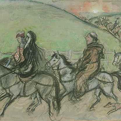 Pilgrims - Orovida Pissarro (1893 - 1968)