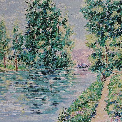 Series - Jordan River<br /> - Lélia Pissarro, Early Figurative (b. 1963)
