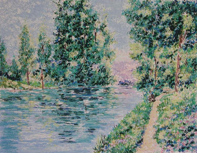 Series - Jordan River - Lélia Pissarro, Early Figurative (b. 1963)