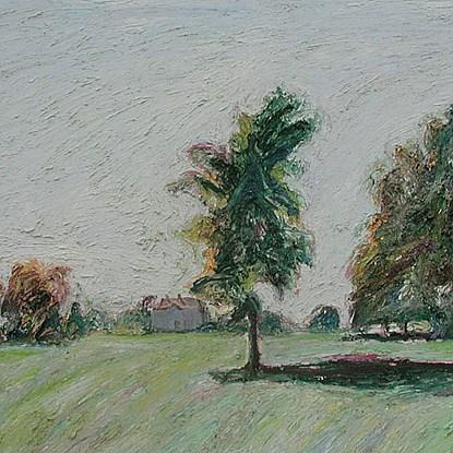 Deux Arbres - Chatêau de St Georges - Hugues dit Pomié Pissarro (b. 1935 - )