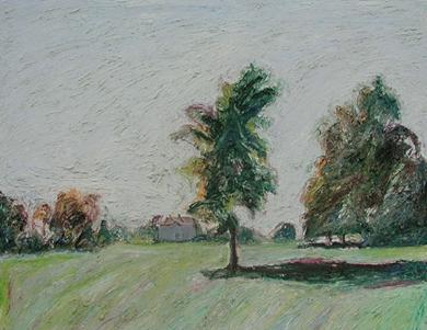Hugues Pissarro dit Pomié - Deux Arbres - Chatêau de St Georges
