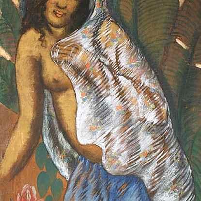 Woman with a White Veil - Georges Manzana Pissarro (1871 - 1961)