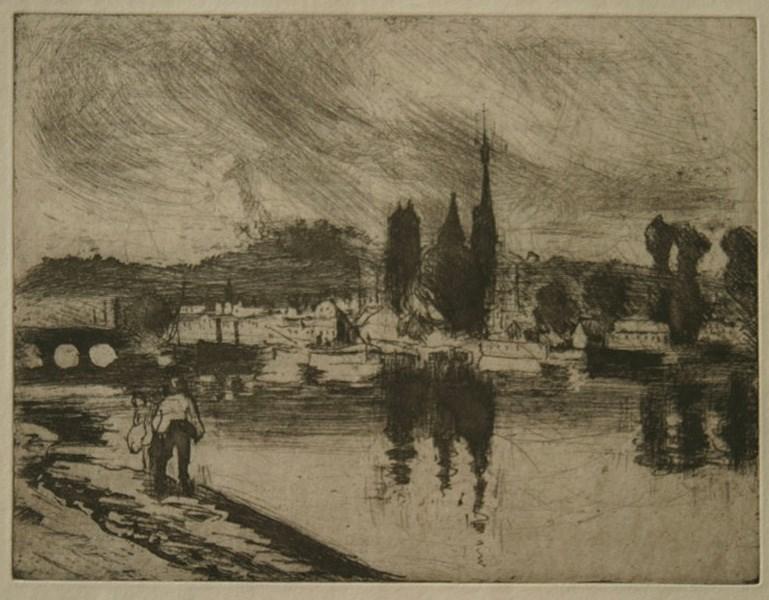 Vue de Rouen (Cours la Reine) - Camille Pissarro (1830 - 1903)