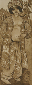 Georges Manzana Pissarro - Fille au Pigeon