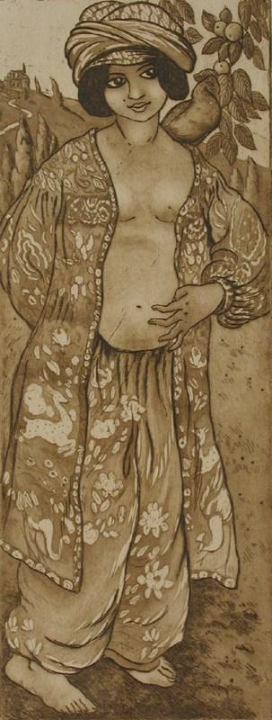 Fille au Pigeon - Georges Manzana Pissarro (1871 - 1961)