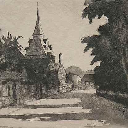 Le Village de Landel - Paulémile Pissarro (1884 - 1972)