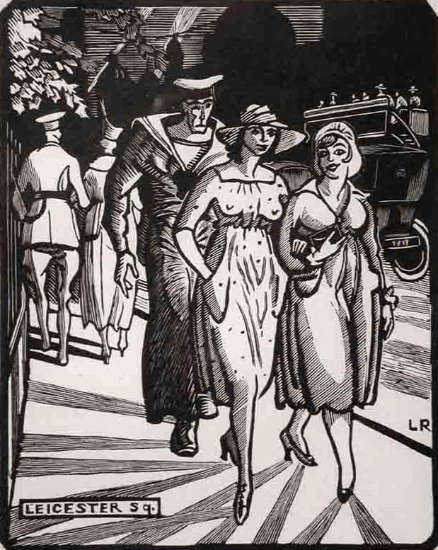 Leicester Square, London - Ludovic-Rodo Pissarro (1878 - 1952)