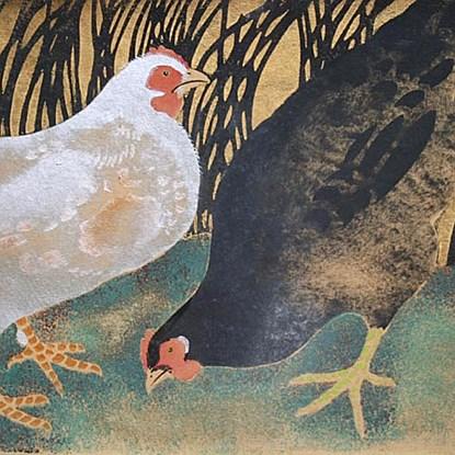 Three Hens - Georges Manzana Pissarro (1871 - 1961)
