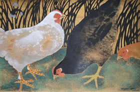 Georges Manzana Pissarro - Three Hens