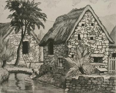 Paulémile Pissarro - Chaumière à Cantepie (Calvados)