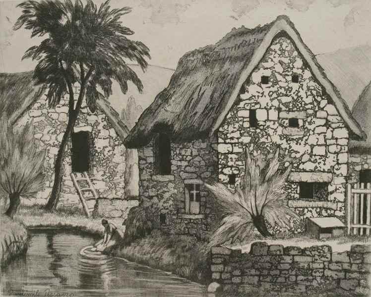 Chaumière à Cantepie (Calvados) - Paulémile Pissarro (1884 - 1972)