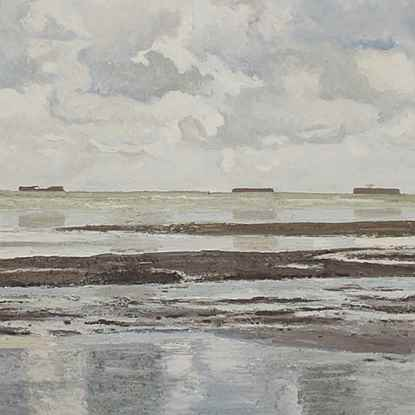 Petite Marine Grise - Hugues dit Pomié Pissarro (b. 1935 - )