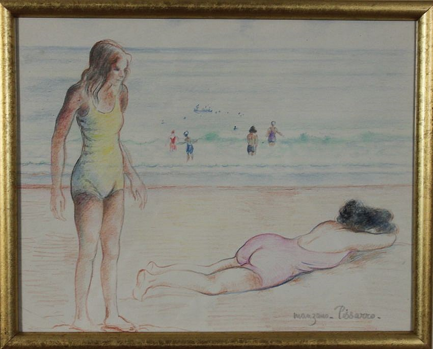Two Figures by the Sea - Georges Manzana Pissarro (1871 - 1961)
