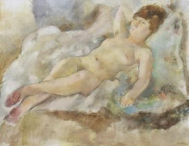 Jules Pascin - Rebecca Couchée