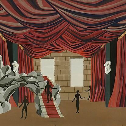 Maquette de Théâtre - Félix Labisse (1905 - 1982)