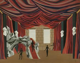 Félix Labisse - Maquette de Théâtre
