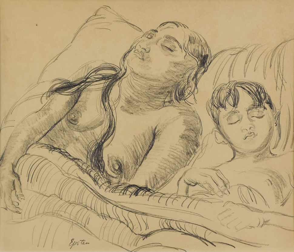 Sunita and her son - Jacob Epstein (1880 - 1959)