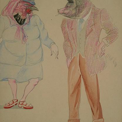 Madane la Dinde et Monsieur Cochon - Georges Manzana Pissarro (1871 - 1961)