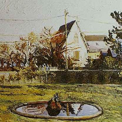 Le Bassin du Hérisson, Jardin du Manoir de Tracy - Hugues  Pissarro dit Pomié (b. 1935 - )