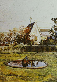 Hugues Pissarro dit Pomié - Le Bassin du Hérisson, Jardin du Manoir de Tracy