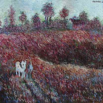 Le Petit Cheval Blanc - Hugues  Pissarro dit Pomié (b. 1935 - )