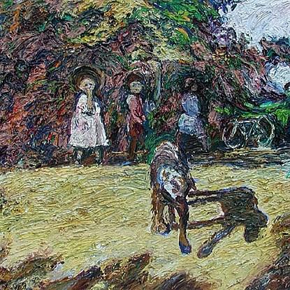 Un Chien une Chaise - Hugues  Pissarro dit Pomié (b. 1935 - )