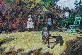 Hugues Pissarro dit Pomié - Un Chien une Chaise