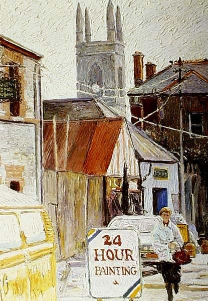 24 hour Painting - Hugues  Pissarro dit Pomié (b. 1935 - )