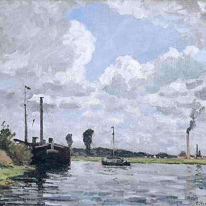 Bords de l'Oise, Environs de Pontoise - Camille Pissarro (1830 - 1903)
