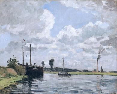 Camille Pissarro - Bords de l'Oise, Environs de Pontoise