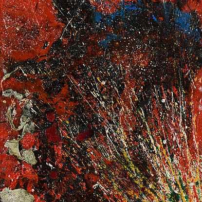 Red Composition - Toshimitsu Imai (1928 - 2002)