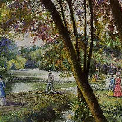 Le Barrage du Vey (Clécy) - H. Claude Pissarro (b. 1935 - )