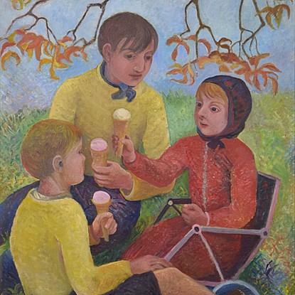 Ice Cream Picnic - Orovida Pissarro (1893 - 1968)