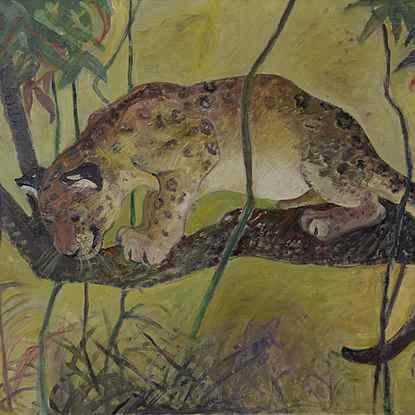 The Monkey Killer - Orovida Pissarro (1893 - 1968)