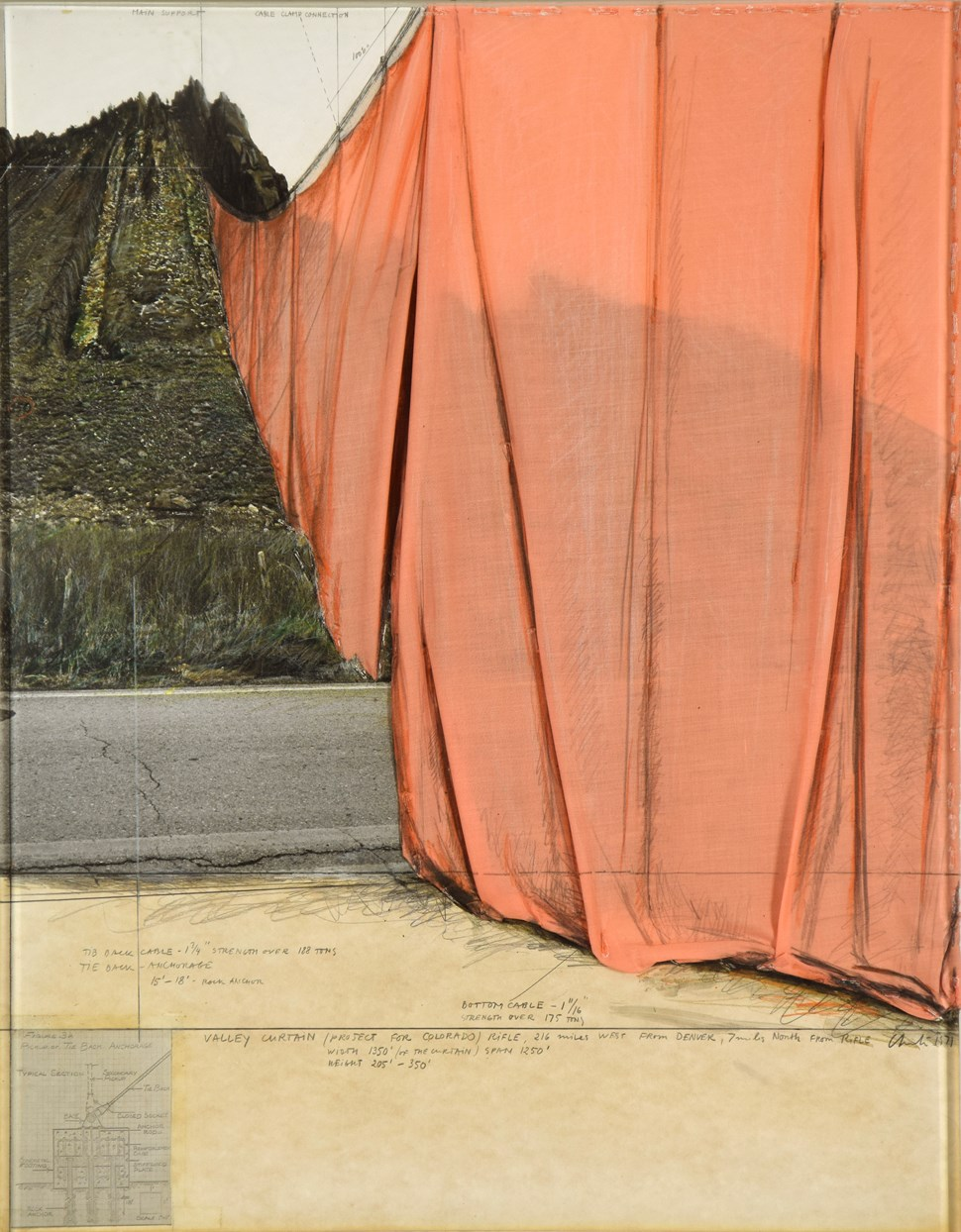 Christo 1935 Valley Curtain Prospect For Colorado Stern