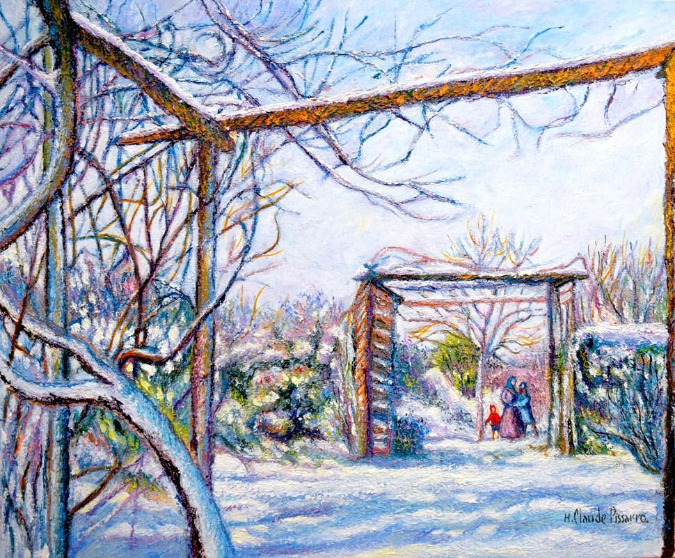 Neige à Grandcamp - H. Claude Pissarro (b. 1935 - )